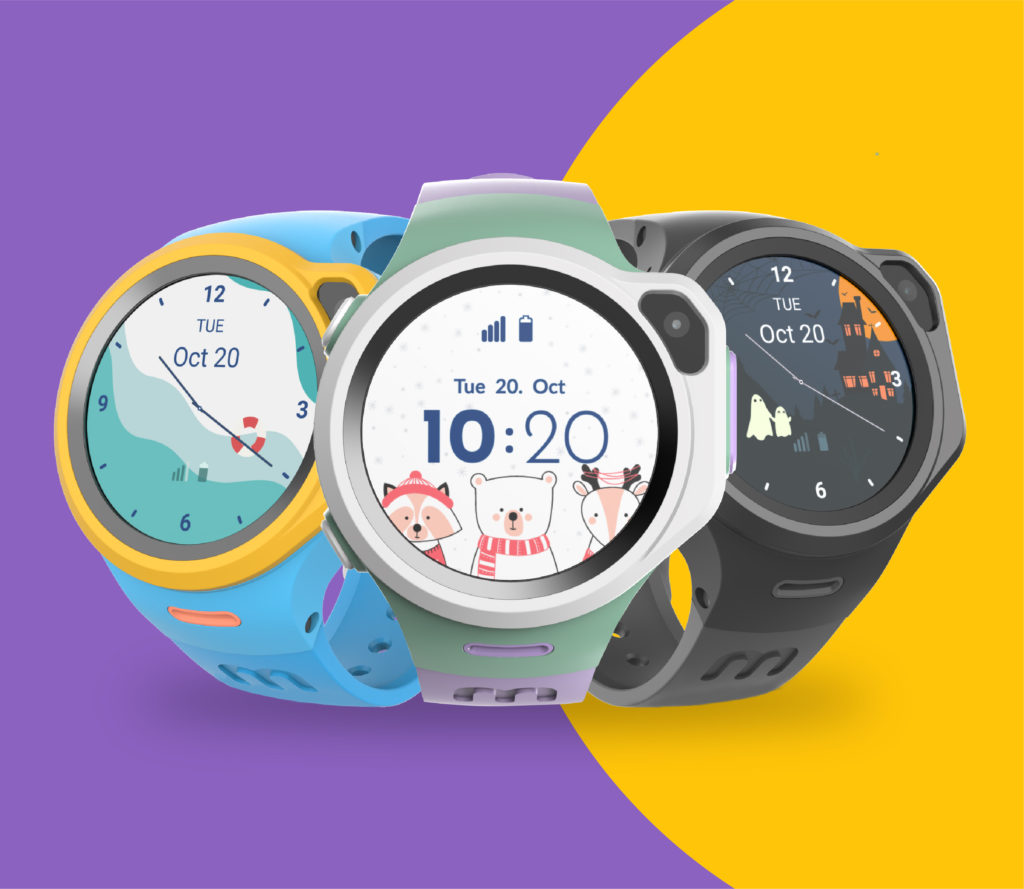 myFirst Fone R1 4G smart watch phone for kids with GPS tracker - Silver award
